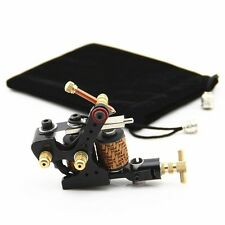 Tattoo Coil Machine Zinc Alloy 10 Wrap Coils Tattoo Machines Liner Shader Black