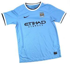 Nike Manchester City FC 2013 2014 light blue soccer jersey Youth XL