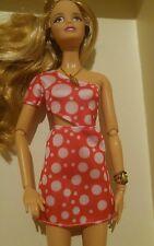 Barbie Doll Red & White Fashionista Dress