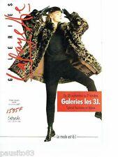 PUBLICITE ADVERTISING 116  1988   Galeries Lafayettes  (8p) fourrures bijoux
