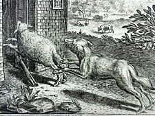 Marcus Gheeraerts I (1521–1636); Master Engraving - The Sheep & the Dog - Aesop