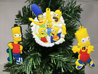 The Simpsons Christmas Ornaments 6 Piece Set.    BRAND NEW