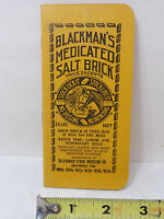 VINTAGE 1930 NOTEPAD ADVERTISING BLACKMAN'S MEDICATED SALT BRICK STOCK MEDICINE