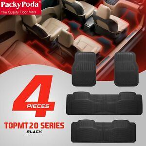 Car Mats Black PVC 4 Pieces Packy Poda 7 Seater Premium Quality Heavy Duty