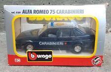 1/24 Bburago Burago Alfa Romeo 75 Carabinieri (Italian Police)