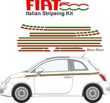 Fiat 500 Italian Car Stripes | Red White Green | Free Post |