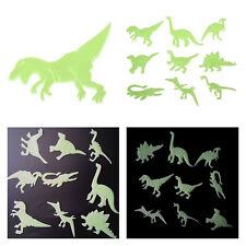 Fun Glow in the Dark Night Dinosaurs Stickers Kids Room Wall Art Decoration 9Pcs