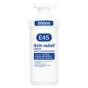 E45 Itch Relief Cream Pump 500 g - Dermatological - AUTHORISED SELLER, UK STOCK