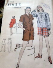 LOVELY VTG 1940s SHIRT & SHORTS VOGUE Sewing Pattern 13/31.5