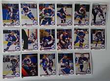 1990-91 Upper Deck UD Winnipeg Jets Team Set of 17 Hockey Cards