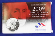 2009 US Mint SILVER Proof Quarters Set of 6 Quarters.  DOC and U.S. Territories