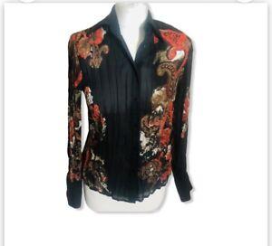 GERRY WEBER Beautiful Ladies Print Blouse Shirt Size 8 - 12