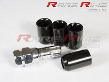 Black Tuner Locking Nuts x4 12x1.5 Fits Honda Shuttle CRV HRV LEGEND DELSOL CRZ
