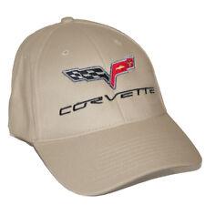 Chevrolet Corvette C6 Cotton Twill Tan Khaki Hat Cap - 2005 - 2013 - USA