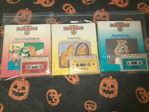 Choose any 3 Teddy Ruxpin Cassette tapes with matching books. Worlds Of Wonder