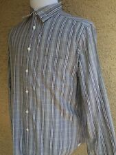 Awesome Canterbury of New Zealand Mens Button-Front L/S Striped Shirt-XL C64