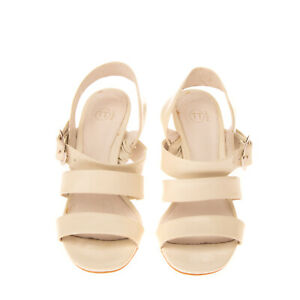 BAGATT Leather Slingback Sandals Size 36 UK 3 US 6 Patent Panel Cone Heel