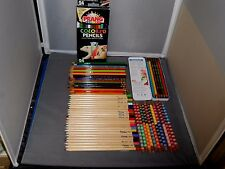 90 Vintage Colored Pencils Empire,Staedtler,Mongol,Prang,Focus Very Nice Lot