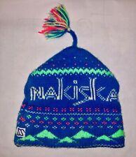 Vintage 80s 90s NEON SKI BEANIE Snow Cap Hat Winter Retro USA Spandex/Fleece.