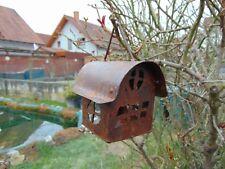 Gartenvilla Haus zum Aufhängen klein Edelrost Rost rostig Metall Gartendeko