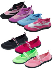 New Women's Athletic Mesh Water Shoes Aqua Socks With Adjustable Strap