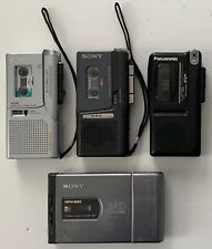 Mixed Lot of 3 Microcassette Recorder and 1 Sony Minidisc Walkman Parts / Repair