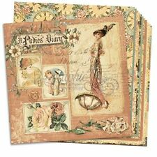 "GRAPHIC 45 ""A LADIES DIARY"" 12X12 PAPER (12 SHEETS) FASHION SCRAPJACK'S PLACE"