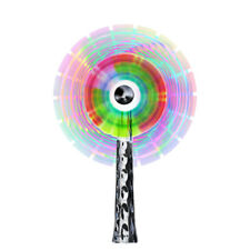 Flashing Rainbow Windmill Light Up Spinner Colourful Sensory Toy
