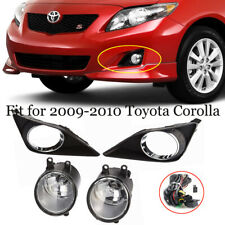 For 2009-2010 Toyota Corolla Clear Glass Lens Fog Driving Light+Switch+Harness