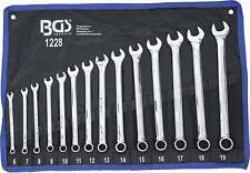 BGS 1228 Maulschlüssel Ringschlüssel Satz extra lang SW 6-19mm 14tlg. Rolltasche