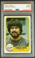 1981 Fleer #385 Enrique Romo Pittsburgh Pirates PSA 9 Mint Only 4 Graded Higher