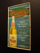 Circa 1910 Cooks Goldblume Colored Advertisement, Evansville, Indiana