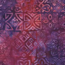 Benartex Bali Batik Fabric-Magenta/Plum Medallion-7516-28