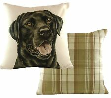 Evans Lichfield Cv005 Black Labrador Waggydogz Boston Check Cushion 43x43cm