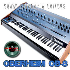 Oberheim Ob-8 Huge Original Factory & New Created Sound Library/Editors on Cd