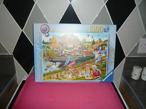 1000 piece jigsaw puzzle ravensburger  by the canal