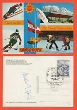 Orig.Postkarte  Olympische Spiele INNSBRUCK 1976 -  mit Autogramm Nicola Spieß !