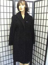 MINT BLACK PERSIAN LAMB (ASTRAKAN) FUR COAT JACKET WOMEN WOMAN SZ 8 NEW LINING!!
