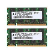 4GB 2X 2GB DDR2 SDRAM 667MHz 200Pin PC5300 SO-DIMM Laptop Authentic Memory Test