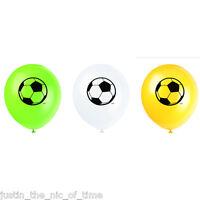 "FOOTBALL THEME Boys Birthday Party Decorations 12"" Latex BALLOONS x8"