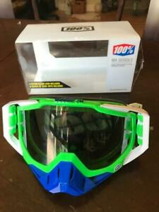 100% The Racecraft MX Alchemy Silver Lens Motorsport Motorcross Dirt Bike Goggle