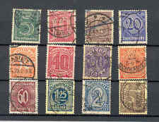 Germany Official Stamps 1920-21 used lot of 12 stamps