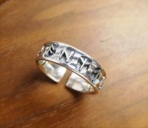 Shiny 925 Sterling Silver Viking Rune Symbol Wrap Ring Unisex Adjustable Unique