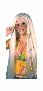 33 Inch Braided Blonde Hippie Wig Adult Costume Accessory