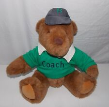 Gund Lands End Rugby Teddy Bear Brown Coach