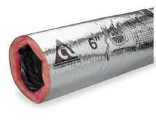 "Insulated Flexible Duct,180F,8"" Dia. ATCO 13002508"