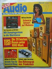 AUDIO 7/86 SONY CDP35, YAMAHA K540, FISHER CR275, NAKAMICHI BX 126E, KENWOOD KX
