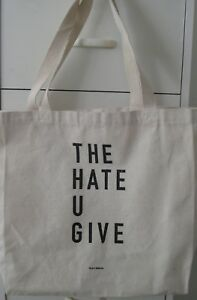 THE HATE U GIVE OFFICIAL 2018 MOVIE PROMOTIONAL CANVAS TOTE BAG AMANDLA STENBERG