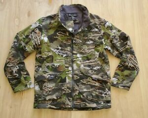 New Men's Under Armour Forest Camo Grit Hunting Jacket Size Large 1320252-940 C