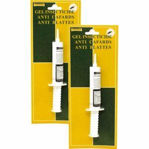 Insecticide anti cafard et blattes, 2 seringues XL de 25 gr, avec attractif